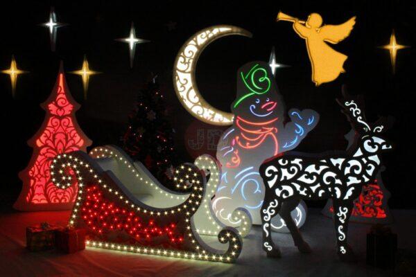 Новогодняя фотозона «Рождественский экипаж»