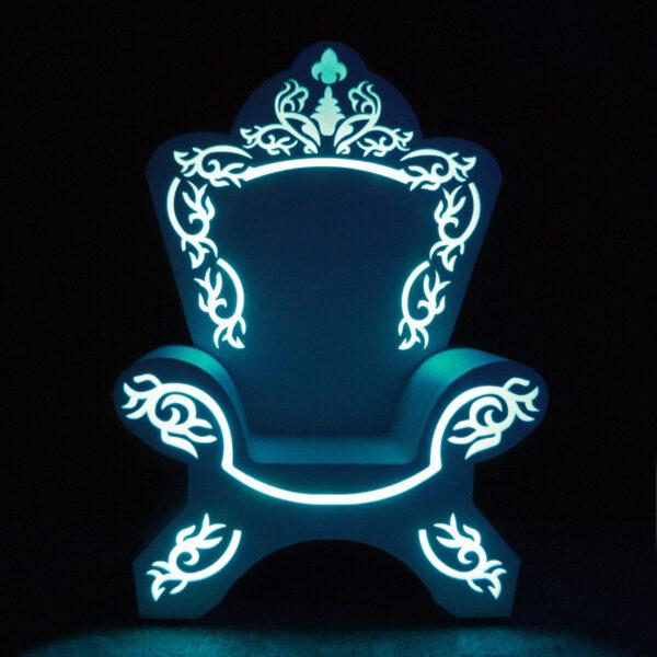 Светящийся трон деда мороза